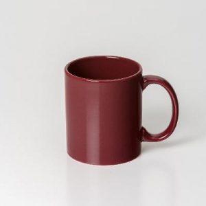 Can Maroon Ceramic Mug