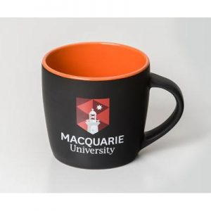 Boston Matte Black/Orange Mug