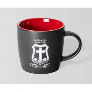 Boston Matte Black/Red Mug
