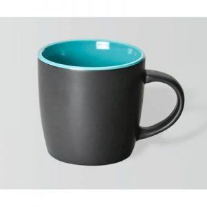 Boston Matte Black/Teal Mug