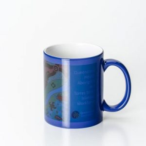 Can Dye Sub Magic Blue/White Mug