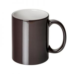 Can Dye Sub Magic Charcoal/White Mug