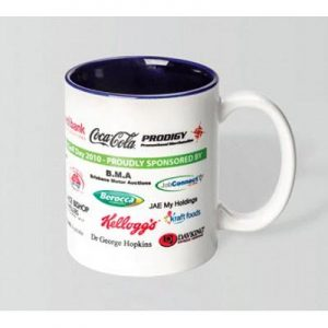 Can Dye Sub White/Cobalt Blue Mug