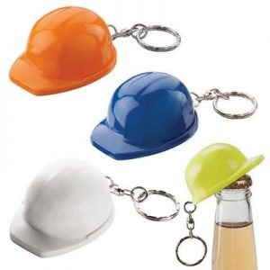 Yellow Hard Hat Keyring