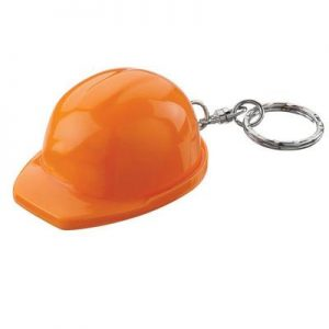 Orange Hard Hat Keyring