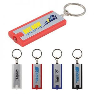 Rectangular Flashlight Keyring