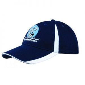 Brushed Heavy Cotton Cap w. Flash Design