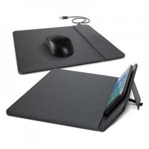 Promotional product, branded wireless charging mouse pad